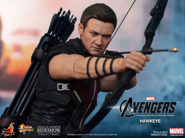 Limited Edition THE AVENGERS Hawkeye Sixth Scale Figure Hot Toys Movie Masterpiece