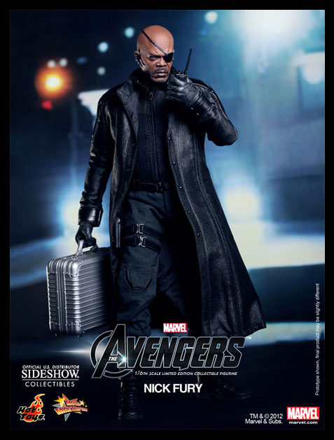 Limited Edition THE AVENGERS Nick Fury Sixth Scale Figure (Hot Toys Movie Masterpiece)