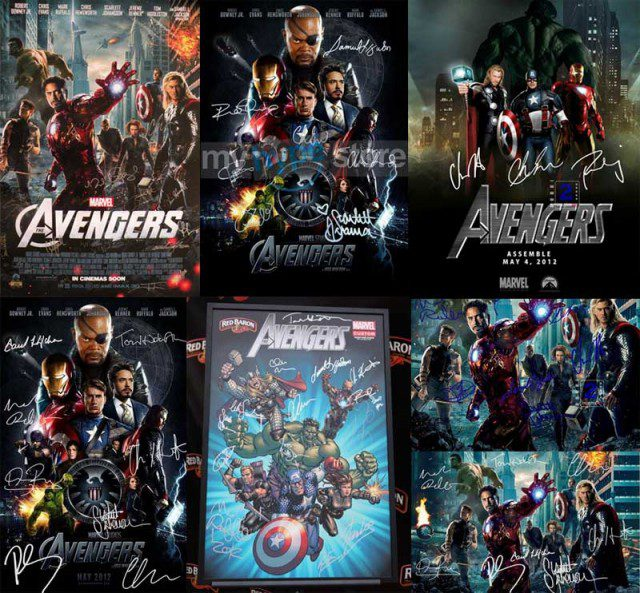 THE-AVENGERS-Signed-Posters