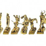 THE AVENGERS Gold Plated Resin Paperweight Set (San Diego Comic-Con 2011 Exclusive)