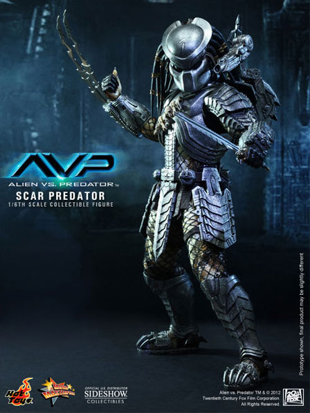 ALIENS-VS-PREDATOR-Sixth-Scale-Scar-Predator-Hot-Toys