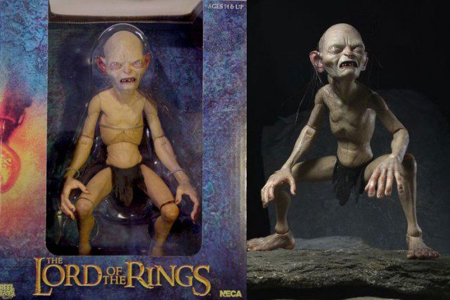 LORD OF THE RINGS Gollum 1/4 Scale Poseable Figure (NECA)