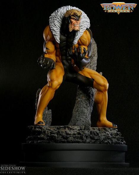 Limited Edition SABRETOOTH Modern Polystone Statue (Bowen Designs)