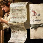 THE HOBBIT: AN UNEXPECTED JOURNEY Bilbo Baggins Deed of Contract Prop Replica