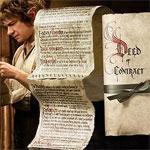 THE HOBBIT: AN UNEXPECTED JOURNEY Bilbo Baggins Deed of Contract Prop Replica