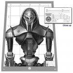 BATTLESTAR GALACTICA Cylon Centurion Target Poster Prop Replica