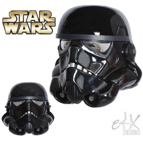 Life Size STAR WARS Black Shadow Stormtrooper Helmet (eFX Collectibles)