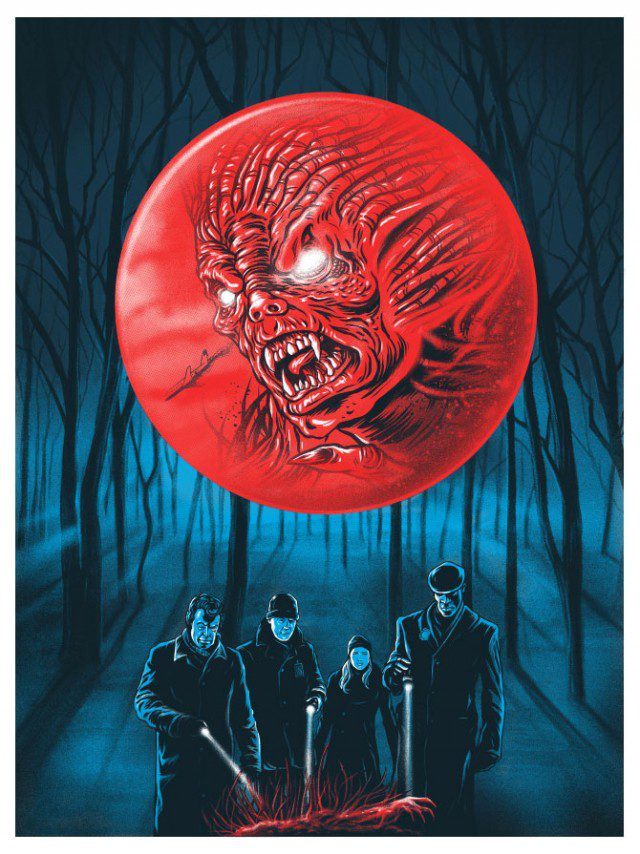 "Limited Edition FRINGE Ghoulish Gary Pullin ""The Transformation"" Screen Print Poster"