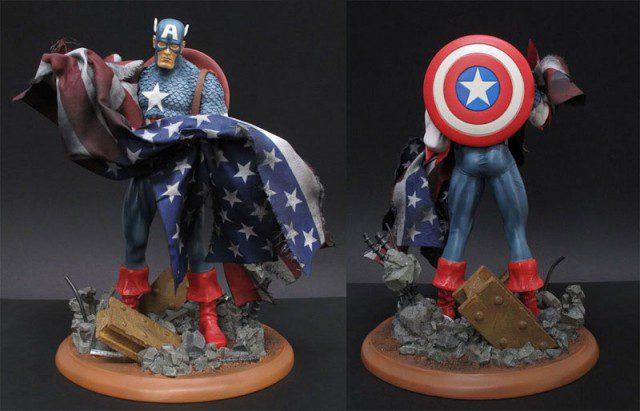 Limited Edition Marvel Milestones Captain America 9/11 Statue (Art Asylum)