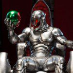 Classic Ultron on Throne Comiquette Polystone Statue (Sideshow Exclusive Edition)