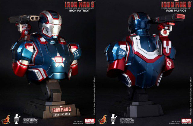 IRON-MAN-3-Iron-Patriot-Collectible-Bust-Hot-Toys