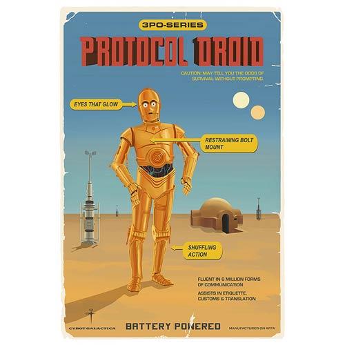Star Wars C-3PO Protocol Droid Retro Ad Poster Paper Giclee