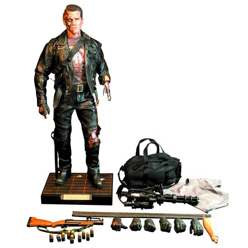 TERMINATOR 2 T-800 Battle Damage 1-4 Scale Figure