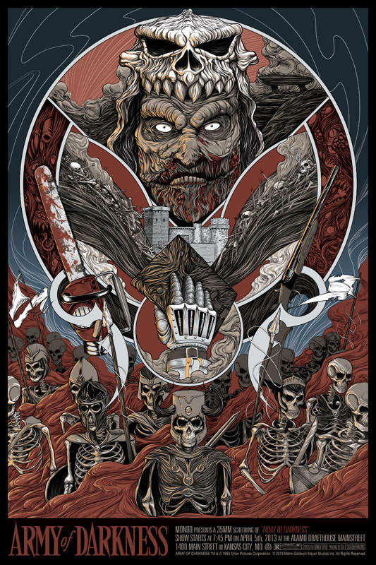 Mondo ARMY OF DARKNESS Randy Ortiz Poster