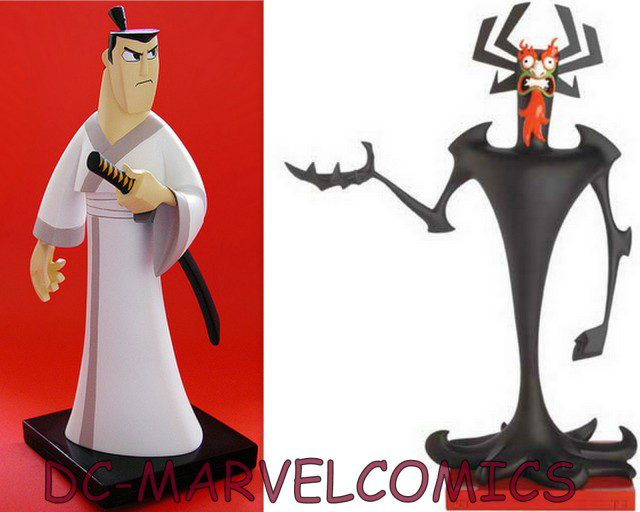 Limited Edition SAMURAI JACK 9 Inch Maquette and Aku 12 Maquette