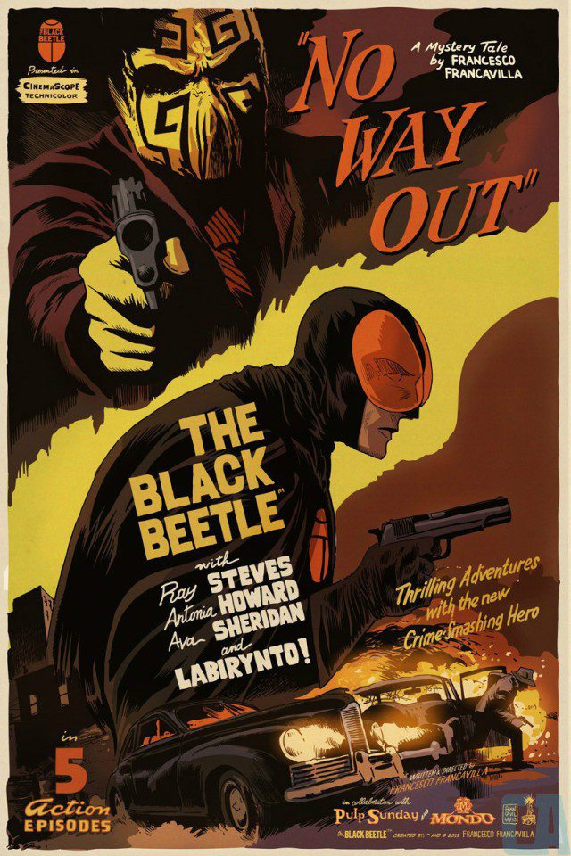 Mondo THE BLACK BEETLE poster