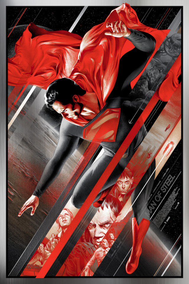 martin ansin mondo man of steel metal variant poster
