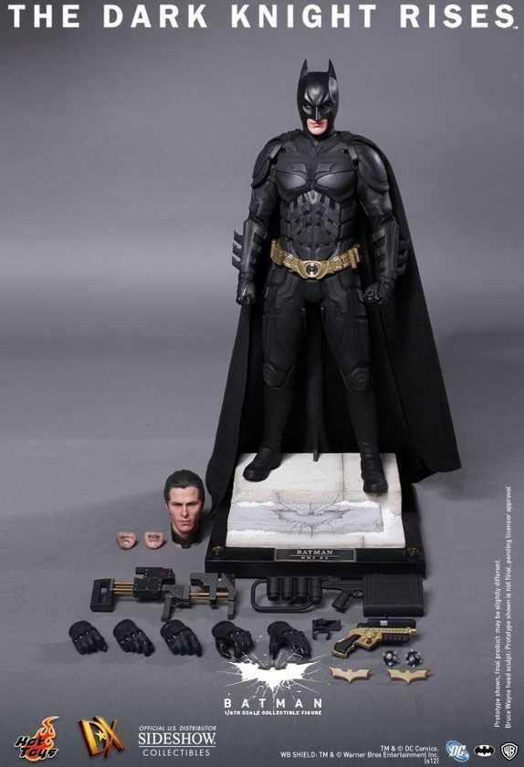 Hot Toys THE DARK KNIGHT RISES Batman Bruce Wayne DX Sixth Scale